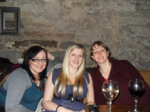 Michelle, Kimberley and Kirsten enjoying the wine