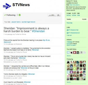 Sheridan Trial STV News Twitter Feed