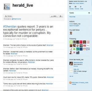 Sheridan Trial Herald Twitter Feed