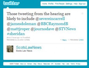 Sheridan Trial Twitter Feed ScotsLawNews