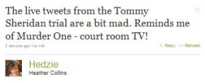 Tommy Sheridan Trial Twitter Comment Hedzie