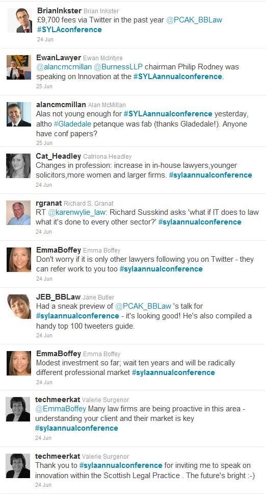 SYLA Annual Conference Tweets