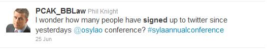 Phil Knight Tweet re SYLA