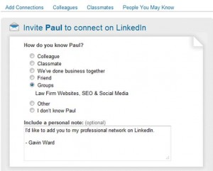 Linkedin Tip 5: Connect with relevant contacts