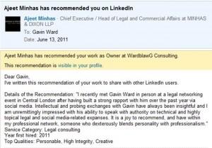 Linkedin Tip 6: Start Recommending