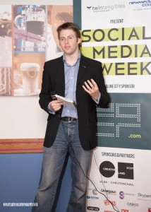 Gavin Ward at Social Media Week in Glasgow
