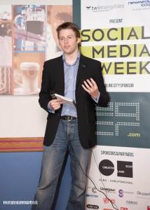 Gavin Ward at Social Media Week in Glasgow