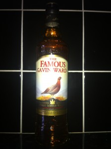 Famous Gavin Ward Whiskey Bottle