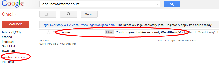 Multiple Twitter Emails Confirmation Email For New Twitter Account