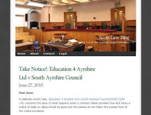 Scots Law Blog First Images