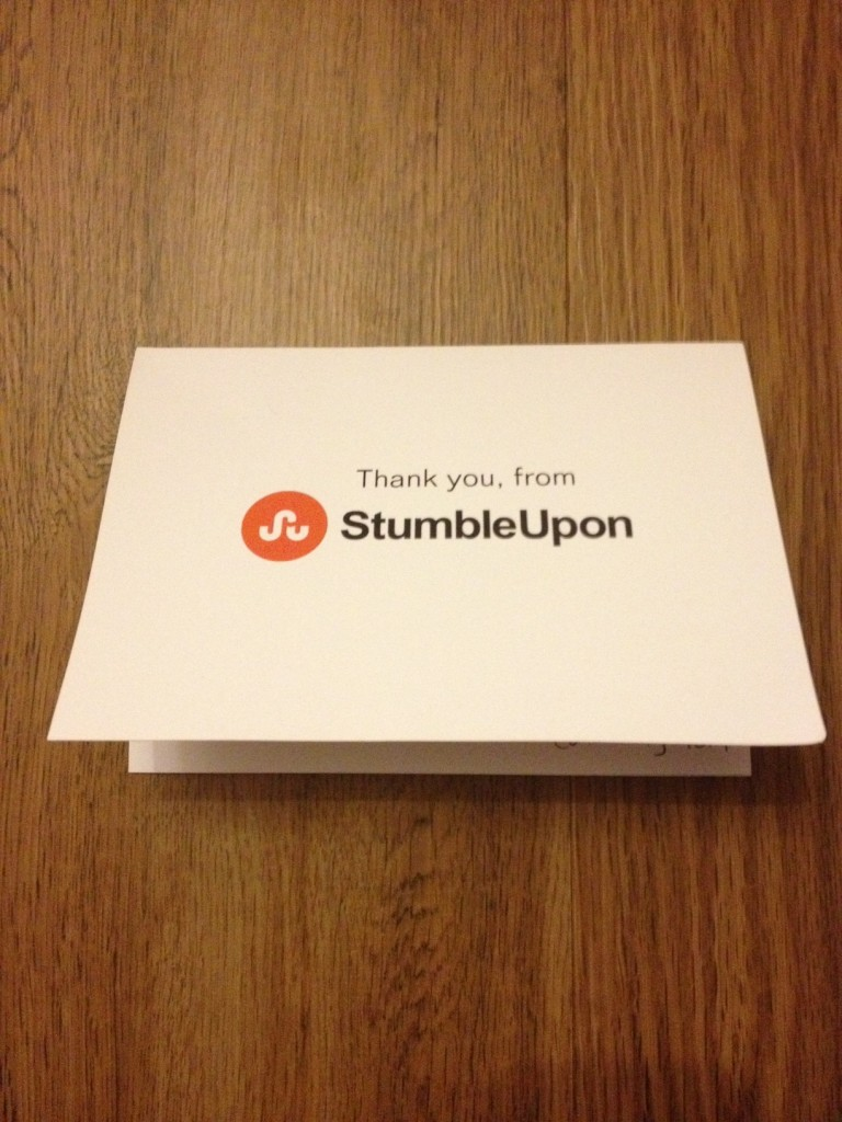 stumbleupon thank you card