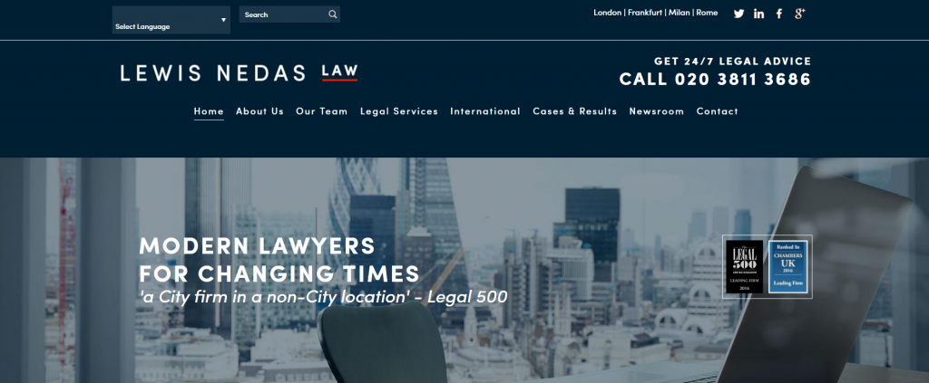 Award-Winning Criminal Defence Law Firm's New Site Design