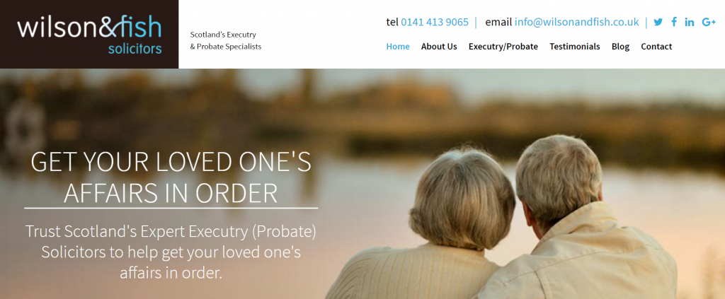 Executry Probate Lawyer Site Design Example