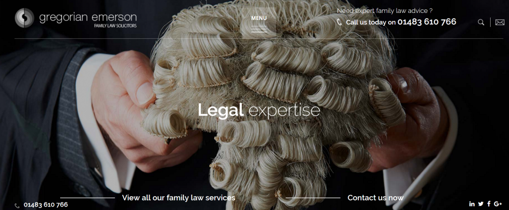 Family Law Firm Website Design Example UK