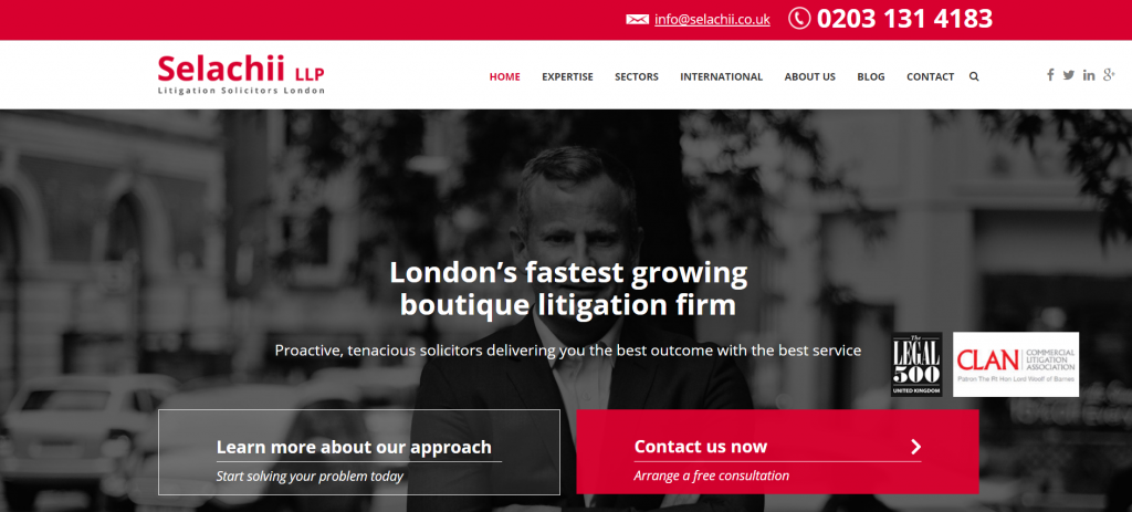 best litigation law firm website design uk