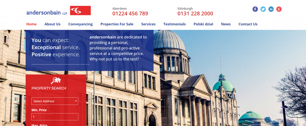 estate agents solicitors website design uk
